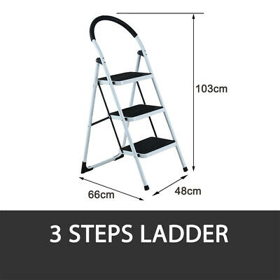 2 Or 3 Step Ladder Multi Purpose  Domestic Household Office Foldable Non Slip 6