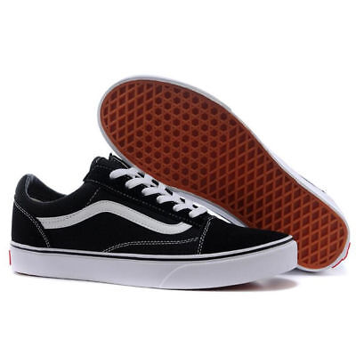 VAN Old Skate Shoes Black/White All Size Classic Canvas Sneakers UK3-UK9.5 2