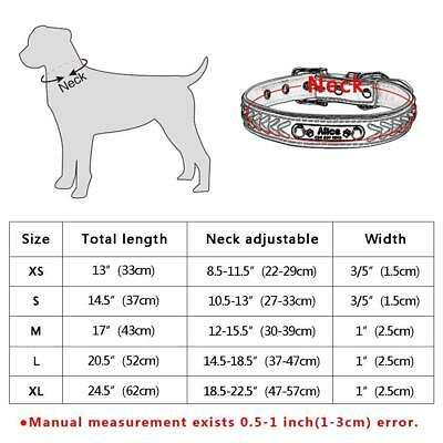 Collar de piel para perro grande suave Personalizable Collar grabado para perro 3
