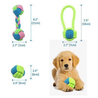 Braided Cotton Rope Pet Dog Interactive Toys for Dogs Chews Bite Training Play 2