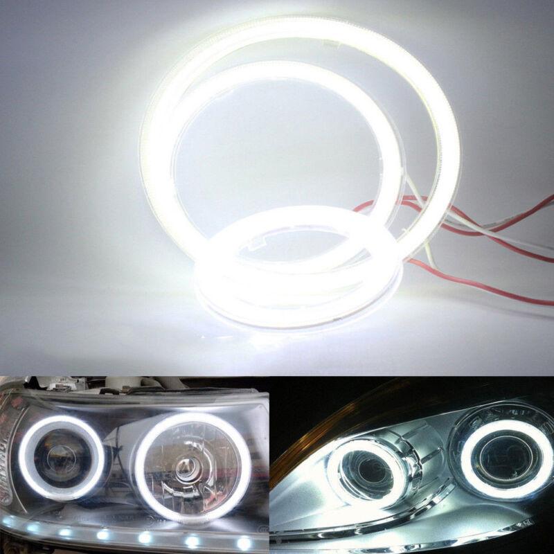 Universal 60LED 70mm Auto COB Angel Eyes Warning Headlight Halo Ring Drving Lamp 3