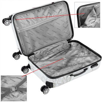 Monzana® Hartschalenkoffer Butterfly Trolley Reisekoffer Koffer M L XL 4 Rollen 12