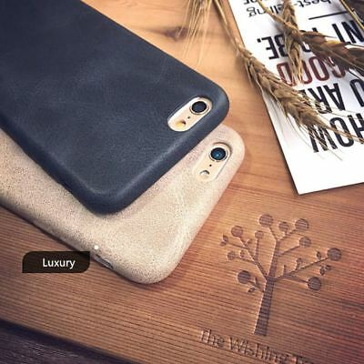 Genuine Original PU Leather Thin Slim Case Cover Apple iPhone 10 X 8 7 Plus 6s 5 5