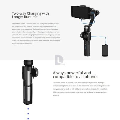 Zhiyun Smooth 4 3-Axis Handheld Smartphone Gimbal Stabilizer for iPhone Samsung 8