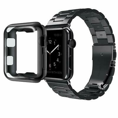 Stainless Steel Band Strap + Case Cover For Apple Watch Series 4 3 2 40mm 44mm 4
