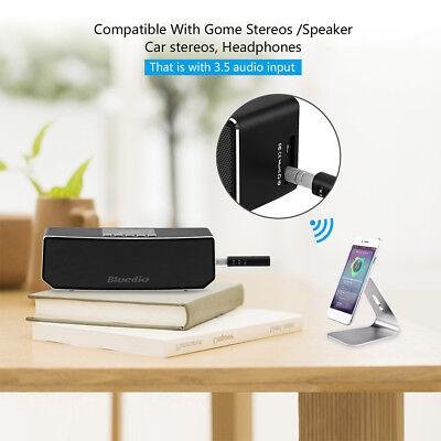 Mini Wireless Bluetooth Car Kit AUX Audio Receiver Hands free 3.5mm Jack New HOT 6