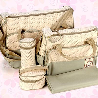 Pflegetasche 5tlg Babytasche Wickeltasche Kindertasche Windeltasche in 5 Farbe 5