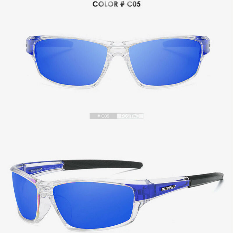 DUBERY Men's Polarized Sport Sunglasses Outdoor Riding Fishing Goggles Glasses 6