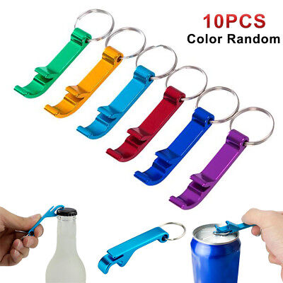 10x Bottle Opener Key Ring Chain Aluminum Keychain Metal Beer Bar Tools Claw NEW 2
