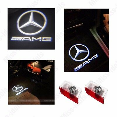 Projector Door CREE LED Courtesy Light Puddle Ghost Laser LOGO For Mercedes Benz 4