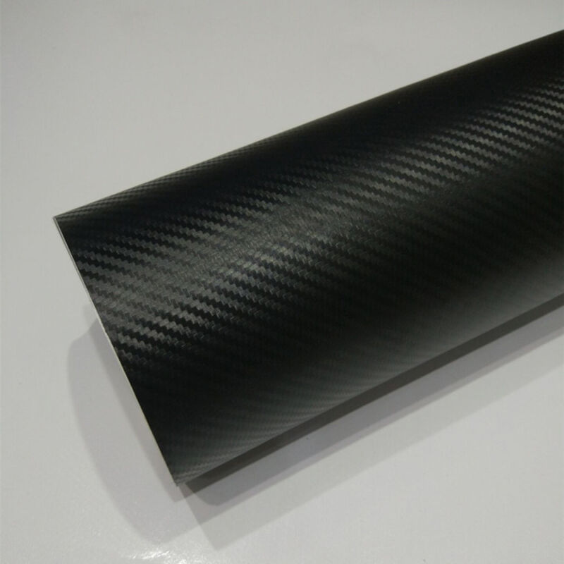 "3D Carbon Fiber Matte Vinyl Film Auto Car Sheet Wrap Roll Sticker Decor 12""x50"" 8"
