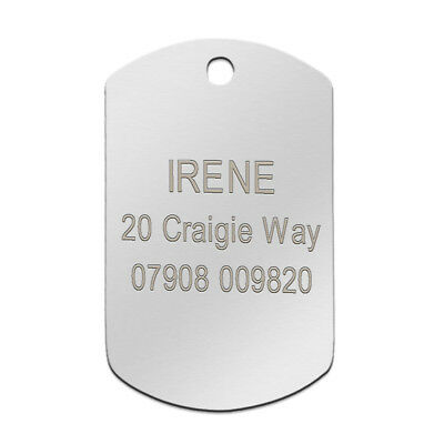Stainless Steel Personalized Dog Tags Bone Round Military ID Name Tags Sliver 8