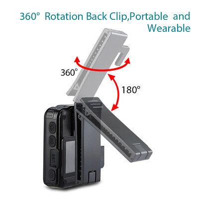 HD 1296P Security Body Worn Camera DVR Police Video Night Vision 170° Waterproof 3