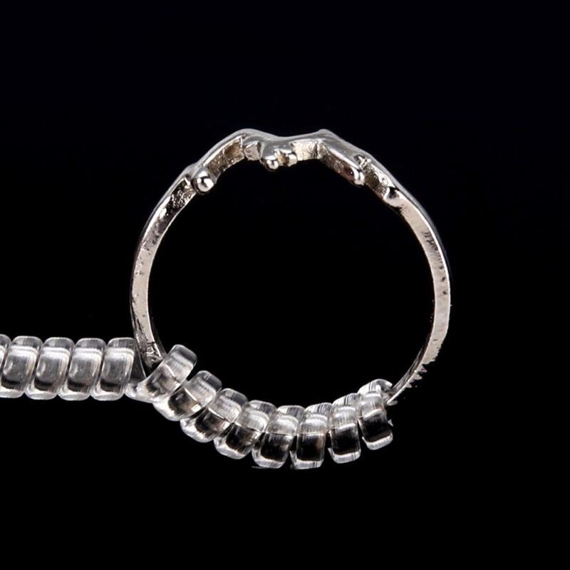 6Pcs Ring Size Adjuster Spiral Tightener Stretcher Rings Reducer Resizing 6