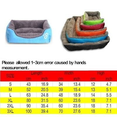 Large soft warm mat pet kennel dog mat cat bed washable candy color square nest 2