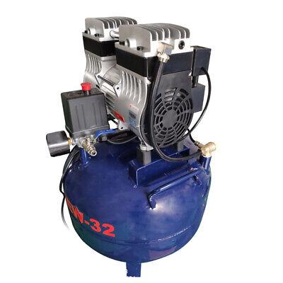 Dental Noiseless Oil-Free Oilless Air Compressor 32L Gas tank 850W AC220V DHL 4