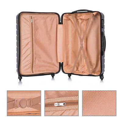 4 Piece Nested Travel Luggage Set Lightweight Suitcase Spinner Hardshell w/Lock 5