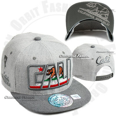 b5cdbbebb20 ... California Baseball Cap CALI Republic Bear Snapback Hat Flat Visor Hip  Hop Hats 5