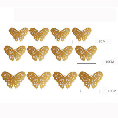 12 Pcs 3D Hollow Wall Stickers Butterfly Fridge For Home Decoration Stickers 9