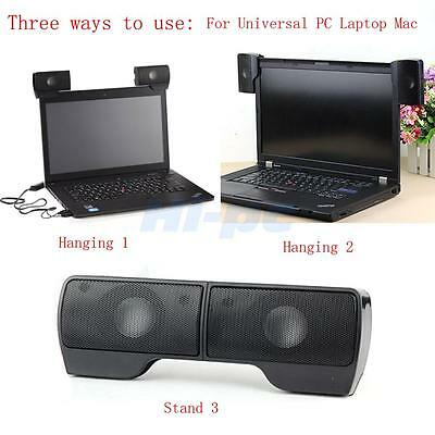 Hot Wall-mounted External Computer USB Speaker Stereo for Music Player Laptop PC 4