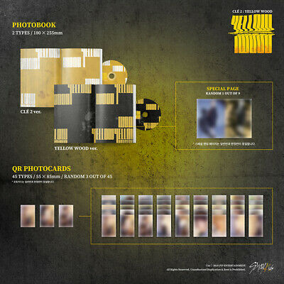 STRAY KIDS - Clé 2:YELLOW WOOD CD+PO Benefit+Poster+Free Store Gift+Tracking no. 3