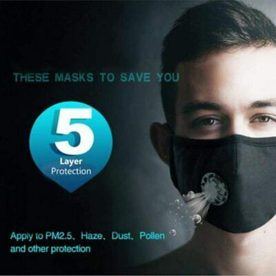 Face Mask Cotton Reusable Air Purifying Washable Mask Haze Pollution+face shield 3