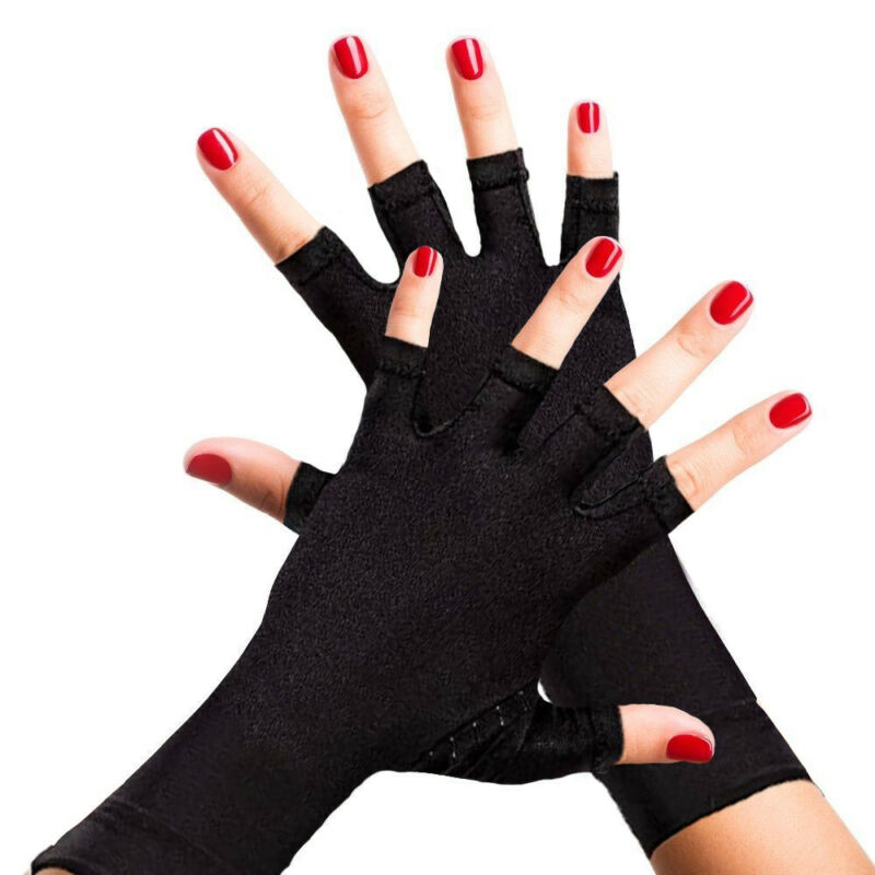 Copper Anti Arthritis Gloves Compression Hand Stiffness Carpal Tunnel Pain Brace 8