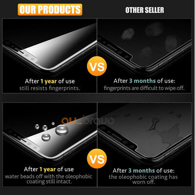 Tempered Glass Screen Protector For Apple iPhone X XS Max XR 8 7 6 6S Plus 5S SE 8