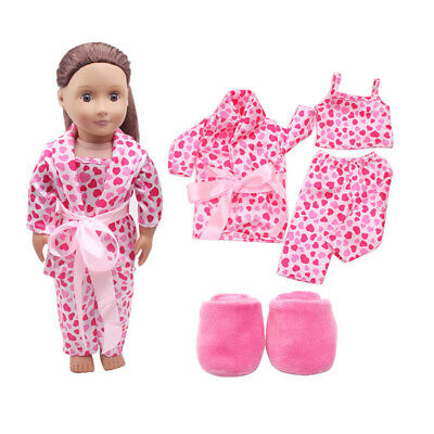 5PCS /Set Clothes Shoes for 18'' American Girl Our Generation Dolls Pajamas UK 7