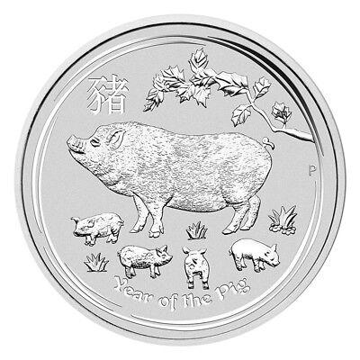 10 x 1 oz Silber Lunar Schwein 2019 - Jahr des Schweins Australien Silbermünze