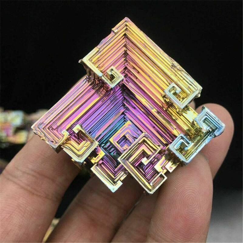 Top Natural Quartz Crystal Rainbow Titanium Cluster VUG Mineral Specimen Healing 2