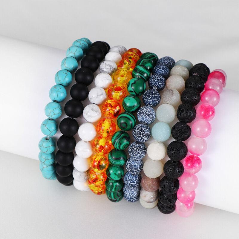 Bracelet de perles en pierre naturelle cadeau bracelet turquoise oeil de tigre 4