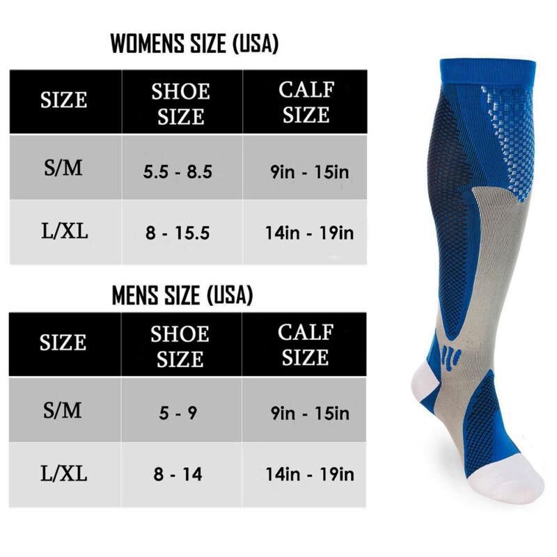 15-30mmHg Medical Compression Socks Support Stockings Travel Flight Socks AU 2