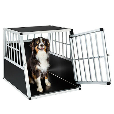 Hundebox Transportbox Alubox Box Hundetransportbox Reisebox Autobox 66x90x69,5cm