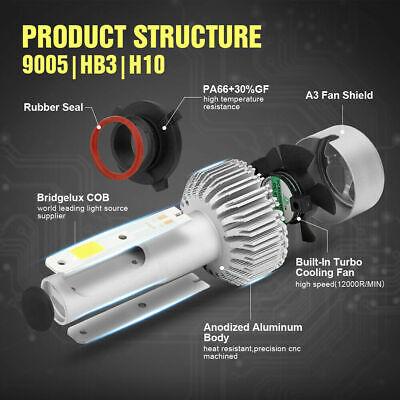 9006 9005 Hi Low Beam COB LED Headlight for Honda Accord 90-2012 Civic 2004-2015 7