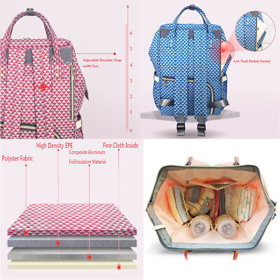 Multifunctional GENUINE LAND Large Baby Diaper Backpack Mummy Nappy Changing Bag 7