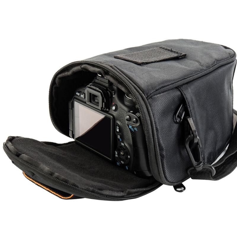 Triángulo negro Bolso Cámara Mochila Funda SLR para Nikon Canon Sony SLR DSLR 4