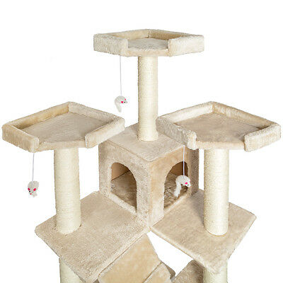 De Luxe Arbre à chat griffoir grattoir geant beige 186cm 3