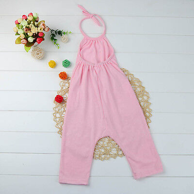 Toddler Kid Baby Girl Strap Romper Jumpsuit Harem Pants Outfit Clothes Summer CW 4