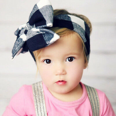 Baby Girls Floral Headwrap Top Knot Big Bow Turban Tie Headband Hair Accessories 4