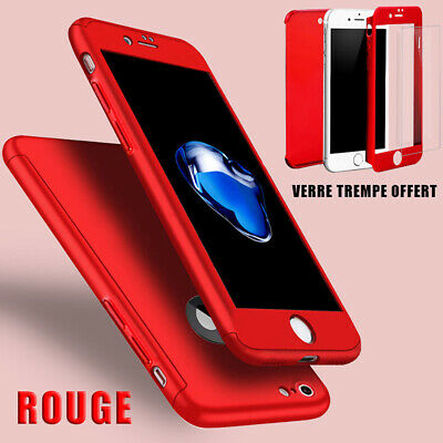 Coque Housse Total 360 Iphone 6 6S 7 8 5 Xr Xs Max Protection Vitre Verre Trempe 4