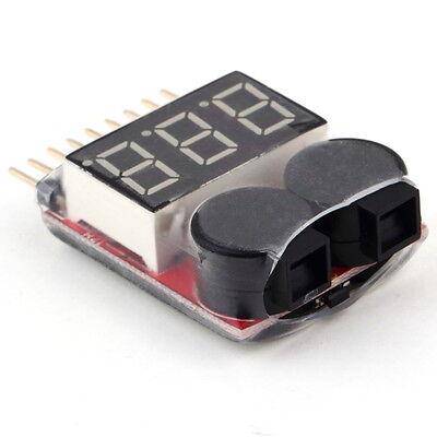 1-8S Lipo/Li-ion/Fe Battery 2IN1 Tester Low Voltage Buzzer Alarm Indicator