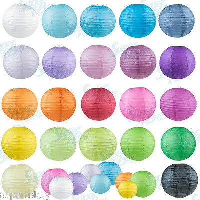 "5/10 Pack of 8"" 10"" 12"" 14"" 16""  Paper Lantern Chinese Decoration Wedding Party 2"