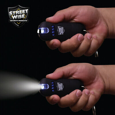 Streetwise SMART Keychain Stun Gun 24,000,000 w/Battery Status Indicator - Black 2