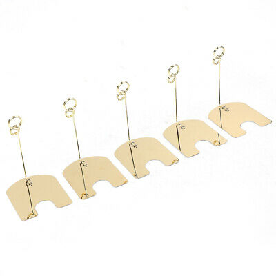 30PCS Metal Wire Card Clip Wedding Table Stand Note Memo Photo Holder Home Decor 7