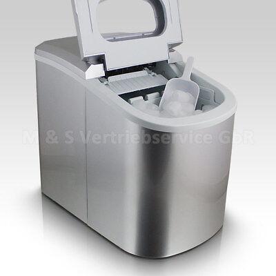 Eiswürfelmaschine Eiswürfelbereiter Eiswürfel Ice Maker Eis Maschine in Silber 3
