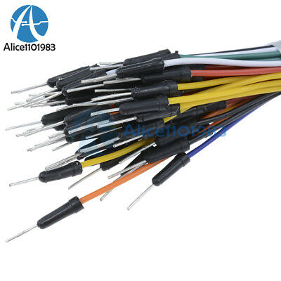 65Pcs Male to Male Solderless Flexible Breadboard Jumper Cable Wires For Arduino 5