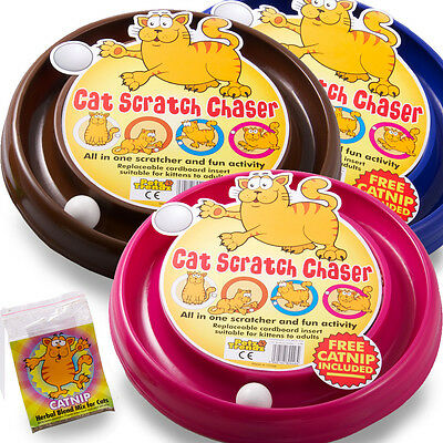 PetzTrendz® Cat Scratch Chaser FREE Cat-Nip - 3 Colours & Refills Available 12