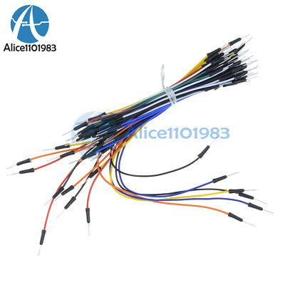 65Pcs Male to Male Solderless Flexible Breadboard Jumper Cable Wires For Arduino 7