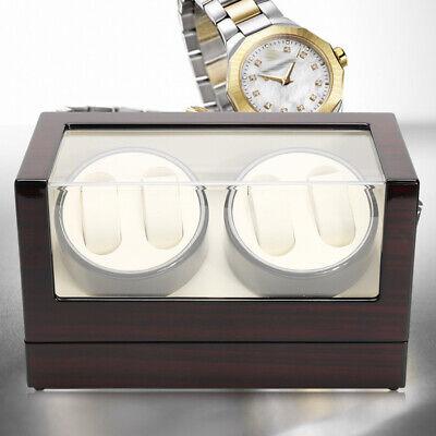 Lusso! 4+0 Watch Winder Box Orologio Automatico Scatola in legno EU Carica DHL 8